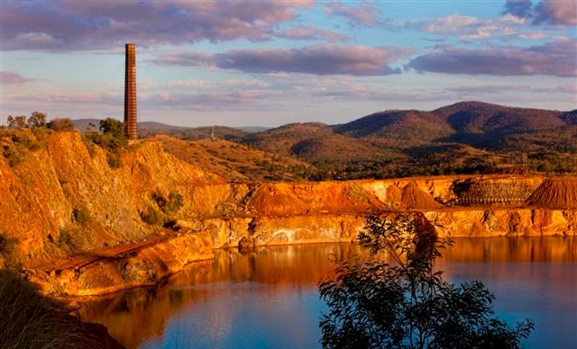 Historic Mount Morgan Open Cut - Environmental Work is taking Place