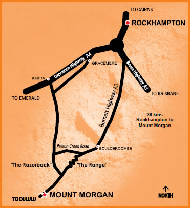 where to find tmc tours in Mt Morgan